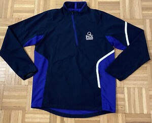 RLX Ralph Lauren Mens Purple 1/4 Zip Pullover PGA Logo Sweater Jacket Sz Small