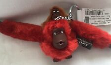 Kipling Baby /& Mother Radiant Red//Timid Blue Monkey Key Ring YingYing BNWT