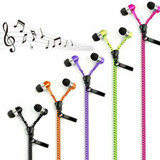 3.5mm In-Ear Zip Zipper STEREO Hands Free Headphones Headset + Mic Earphones JD