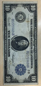 1914 $10 Federal Reserve Note** Great Starter