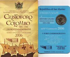 2006 San Marino 2 Euro Commemorativo 500 An Scomparsa Cristoforo Colombo FDC BU