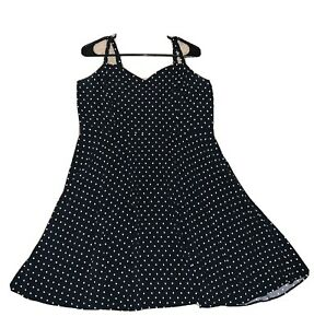 Old Navy womens size XL black and white pilka dot dress EUC