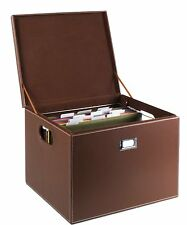 G.U.S. Decorative Office File and Portable Storage Box For Hanging Folders