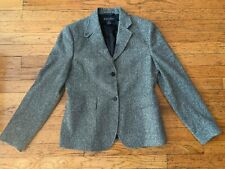 BROOKS BROTHERS GRAY WOOL LINED BLAZER - SIZE 6