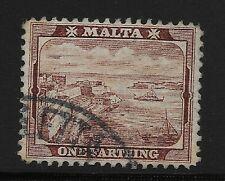 Malta Scott #19, Single 1901 Complete Set FVF Used