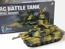 1/24 U.S. M1A2 Abrams Radio remote control RC Battle Tank pellets not included