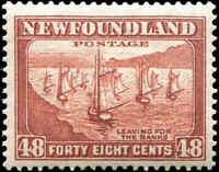 Mint Canada Newfoundland 1938 48c F-VF Scott #199 Stamp Hinged