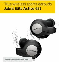 Jabra Elite Active 65t True Wireless Earbud Headphones Titanium Black W/Alexa