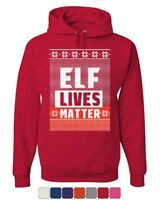 Elf Lives Matter Ugly Sweatshirt Hoodie Holiday Christmas Xmas Sweatshirt