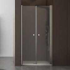Box doccia nicchia 120 cm porta saloon cristallo opaco 6 mm altezza 190 battente