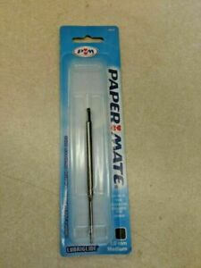 Papermate  Ballpoint Refill  Lubriglide Black Medium Pt New In Pack  Made In Usa