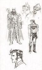 Steampunk Gotham Batman & Superman DC Design Art Prelims 2011 Sean Gordon Murphy Comic Art