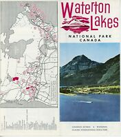 1960s Waterton Lakes National Park Travel Brochure Canada Canadian Vintage