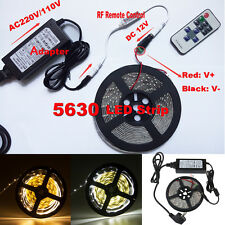 Dimmable 5M 5630 SMD 300 LED Strip Light + Remote Dimmer+ 12V Power Supply +DC
