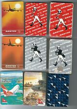 Qantas Airline 2 Playing Card Decks and 5 Different Singles