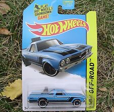 BLUE 1968 El Camino. HW Off-Road ~ 2015 122/250. CFK69. New in Blister Pack!