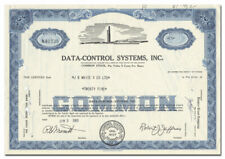 Data-Control Systems, Inc. Stock Certificate (Danbury, Connecticut)