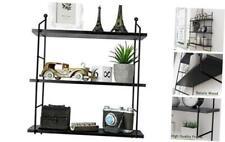 Himimi Industrial Wall Mounted 3-Tier Shelf, Adjustable Wall Floating Storage Sh