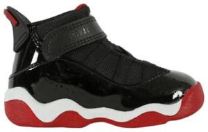 Nike Air Jordan 6 Rings TD Bred Shoes Black Red 323420-062 AJ Toddler Infant 6C