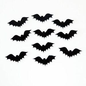 Flying Bats Black Acrylic Mini Craft Sized Shapes (10Pk)