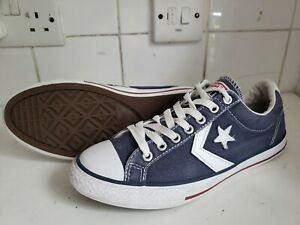 CONVERSE STAR PLAYER ALL STAR  BOYS GIRLS CANVAS BLUE WHITE TRAINERS UK 5 EU 38