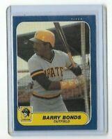1986 Fleer #U-14  Barry Bonds Pittsburgh Pirates