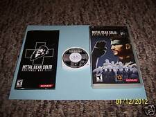 Metal Gear Solid (PlayStation Portable) psp complete