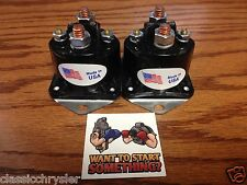 2 NEW ( TWO  WINCH SOLENOIDS Fits WARN 72631 28396 Solenoid Relay XD9000i 9.5ti