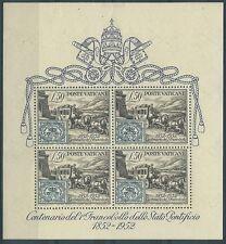 1952 VATICANO FOGLIETTO CENTENARIO FRANCOBOLLI STATO PONTIFICIO MNH ** - ED3