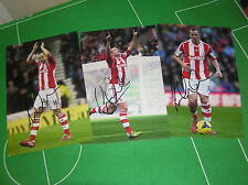 Stoke City FC 3 x Different Charlie Adam Signed 2013/14 Season 12x8 Photographs