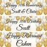 2 personalised birthday gold wedding engagement banner party decoration poster