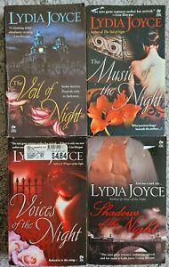 LYDIA JOYCE GOTHIC HISTORICAL ROMANCE PAPERBACK 4 BOOK LOT NOVELS NIGHT TITLES