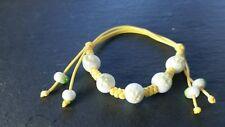Brand new yellow bracelet bangle with quartz stone! Fine Jewellery gifts!