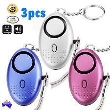 3X 140dB Personal Alarm Self-defense Keychain Emergency Siren Song Safety Torch