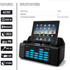 iDance Bluetooth Speaker Party Box MP3 USB Stereo FM Radio DJ Mixer Disco 100W