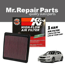 BLACK WASHABLE HIGH FLOW AIR FILTER FOR 05-17 SUBARU LEGACY OUTBACK FORESTER H4
