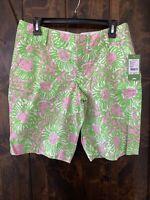 "Lilly Pulitzer Shorts S 6 NWT ""The Clipper Short"" Cabana Pink Sunnyside Orig $78"