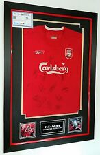 ** Rare ISTANBUL Liverpool Squad Signed SHIRT Autograph 2005 Display **