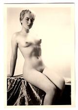 #766 ROESSLER AKTFOTO / NUDE WOMAN STUDY * Vintage 1950s Studio Photo - no PC !