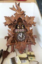 Dr Schiwago Switzerland Cuckoo Clock Vintage Squirrel Bird Regula Wood Display