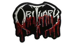 OBITUARY blood logo  embroidered patch.