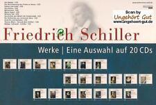 Friedrich Schiller - Werke - Eine Auswahl 20 CDs NEU 12 Hörbücher **TOP-PREIS**