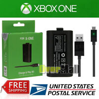 Rechargeable Battery Pack & Charging Cable For Xbox One X S Play Charge Kit USA