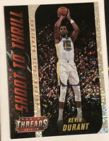 2018-19 Panini Threads Shoot To Thrill Dazzle #13 Kevin Durant Warriors