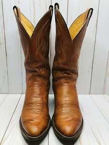 Justin Boots Men's Size 7.5D #2497 Leather Cowboy USA Western Rodeo Brown