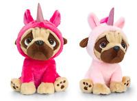 Keel Toys Pugsley 20cm Pug Dog in unicorn costume Cuddly Soft Toy Teddy Plush