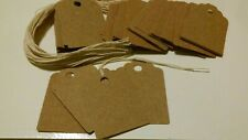 50 Large Thick Rustic Brown Acid Free Card Stock Price Tags Gift Tag Unstrung