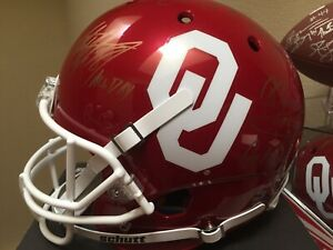 Adrian Peterson Dupree Washington Signed FS Replica Helmet OU Oklahoma Sooners