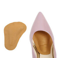 PU Leather Arch Supports Forefoot Insoles Women High Heel Pads Massage Cush RA