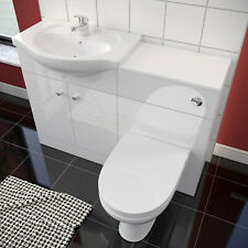 Large Cpacity WC Unit BTW Mirror Effect Modern Bathroom Vanity Toilet Basin Sink